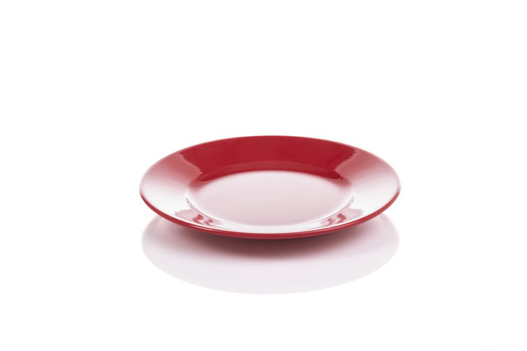15 cm Klasik Servis Tabak Kırmızı
